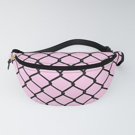 Chain Link Black on Blush Fanny Pack