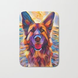 German Shepherd 8 Bath Mat