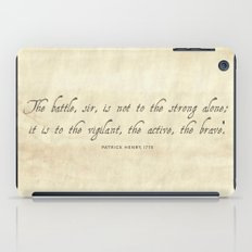 The Battle by Patrick Henry iPad Case