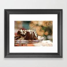 KAHLUA CHRISTMAS CAKE Framed Art Print