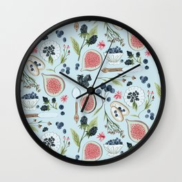 Blueberry Breakfast Wall Clock