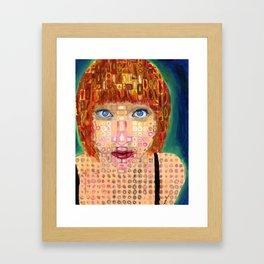 """Chuck Close Style Self Portrait"" By Caroline Brill Framed Art Print"