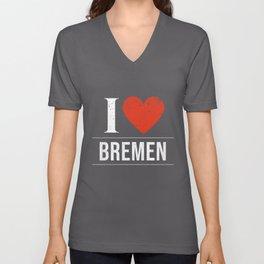 I Love Bremen Unisex V-Neck