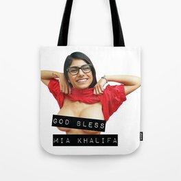 God Bless Mia Khalifa Tote Bag