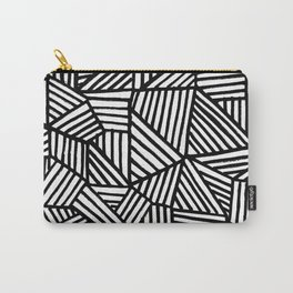 Black Brushstrokes Carry-All Pouch