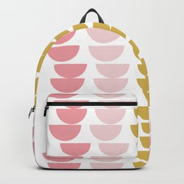 Geometric Kitchen Bowls in Pink, Chartreuse, and Green Backpack