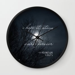 Forever Dark Wall Clock