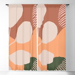 Botanical art boards Blackout Curtain