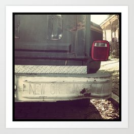 Bywater Truck, New Orleans, Louisiana Art Print