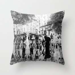 Summer space, smelting selves, simmer shimmers. 20, grayscale version Throw Pillow