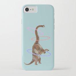 Brachiosaurus the Hula Dancer in Green iPhone Case