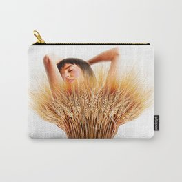 Woman And Wheat Carry-All Pouch