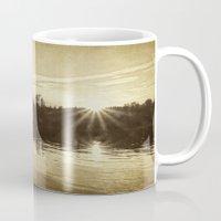 golden Mugs featuring golden by Bonnie Jakobsen-Martin