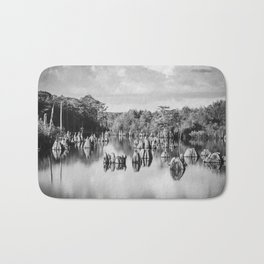 Dead Lakes Florida Black and White Bath Mat