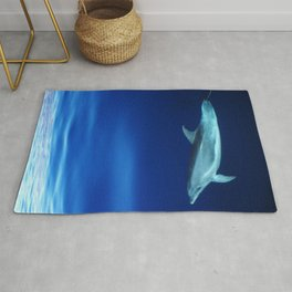 Dolphin and blues Rug