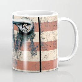 Door old car and falg USA America Coffee Mug