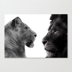 The Lion and Lioness Canvas Print
