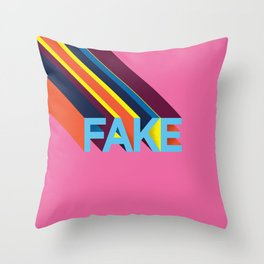 FAKE Throw Pillow