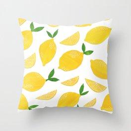 Lemon Cut Out Pattern Throw Pillow
