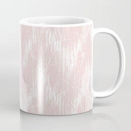 Simple white, pink pattern. Coffee Mug