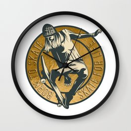 Skate for Life Wall Clock