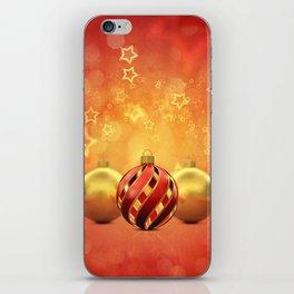 Christmas decoration background iPhone Skin