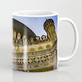 Looking up at One of the Mosques with the Sun Shining on It and Giving It a Golden Color at the Qutb Shahi Tombs in Hyderabad, India Coffee Mug