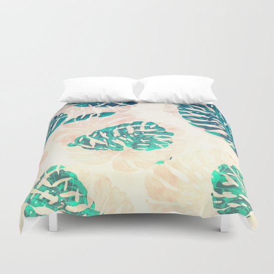 CALI TROPICAL LEAVES Duvet Cover