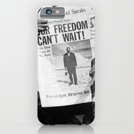 Our Freedom Can't Wait - Malcolm X iPhone Case