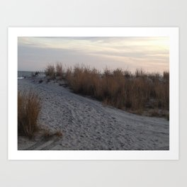 Beach at Atlantic City during Sunset Art Print