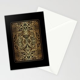 Ornament Gold Playing Card Stationery Cards