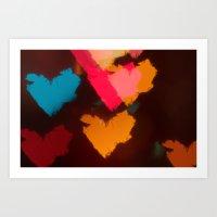 hearts Art Prints featuring Hearts by Tanya Thomas