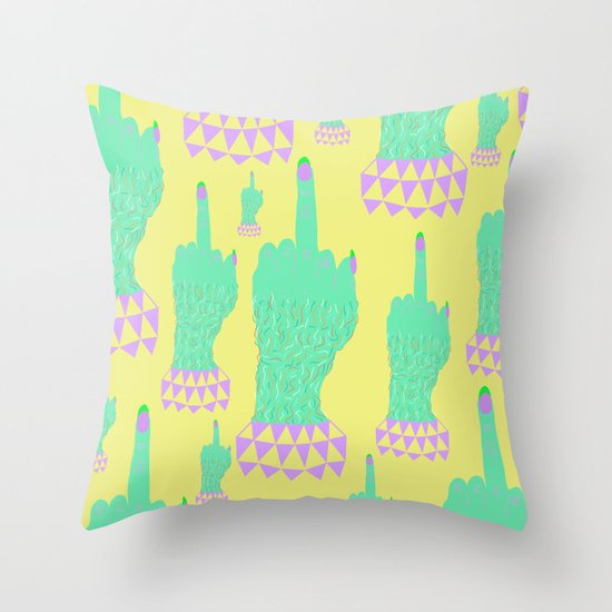 Magic Finger Throw Pillow