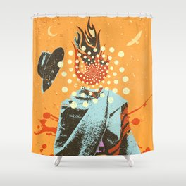 PSYCHEDELIC COWBOY Shower Curtain