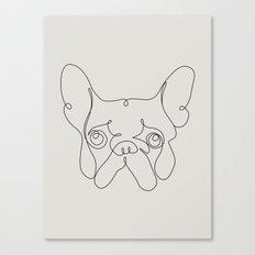 One Line French bulldog Canvas Print