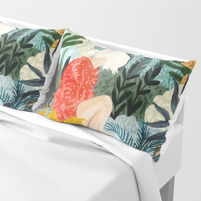 The Distracted Reader Pillow Sham