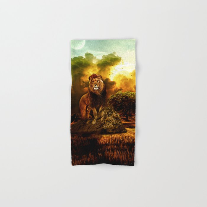 Lion V Hand & Bath Towel