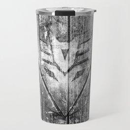 Decepticon Monochrome Wood Texture Travel Mug