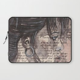 Handwritten letter with portrait Laptop Sleeve
