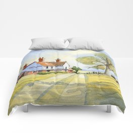 Country Cottage in Kentucky Comforters