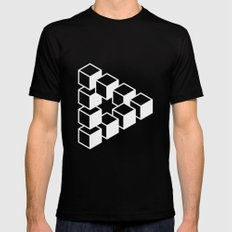 Optical Illusion Black LARGE Mens Fitted Tee