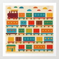 train Art Prints featuring Train by Kakel