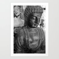 buddah Art Prints featuring The Buddah  by Jon Skalski