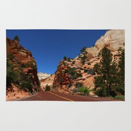 Red Road  Through Zion Park Rug