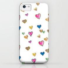 Falling hearts iPhone 5c Slim Case