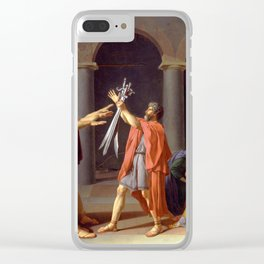Oath of the Horatii by Jacques-Louis David Clear iPhone Case