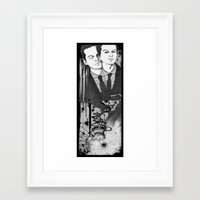 moriarty Framed Art Prints featuring Moriarty by suis0u