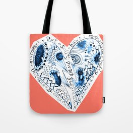 divorced, spearated halved Tote Bag