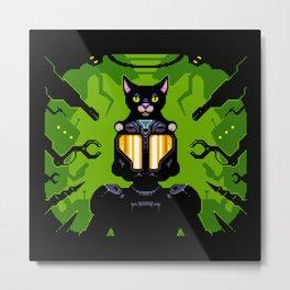 Cat Astro Phi Metal Print