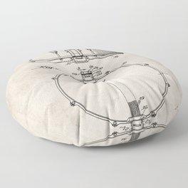 Snare Drum Patent - Drummer Art - Antique Floor Pillow